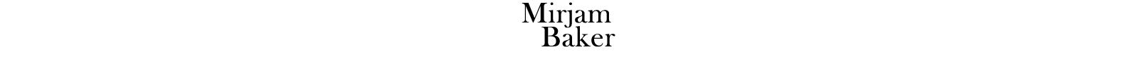 Mirjam Baker